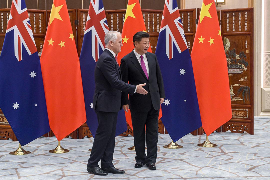 2016年9月4日杭州,澳洲總理滕博會見中國國家主席習近平。 攝:Wang Zhou/Pool via Getty Images