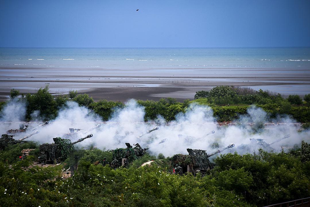 2020年7月16日,台灣台中舉行的年度漢光軍演期間。 攝:I-Hwa Cheng/Bloomberg via Getty Images