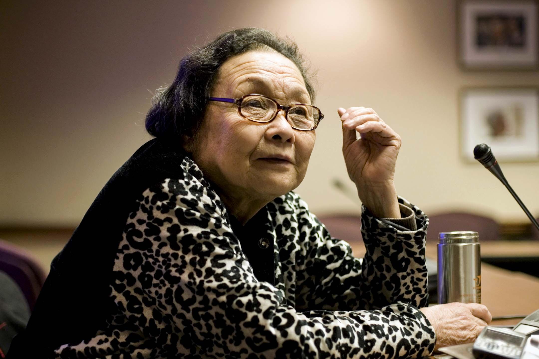 愛滋病防治活動家,被譽為「中國防愛第一人」、河南中醫學院退休教授高耀潔。圖片拍攝於2007年。 攝:Joshua Roberts/Reuters/達志影像