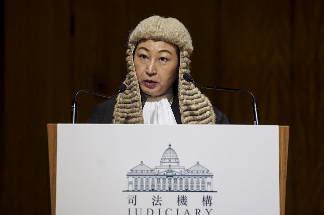 2020年1月13日,律政司司長鄭若驊資深大律師於2020年法律年度開啟典禮上發言。