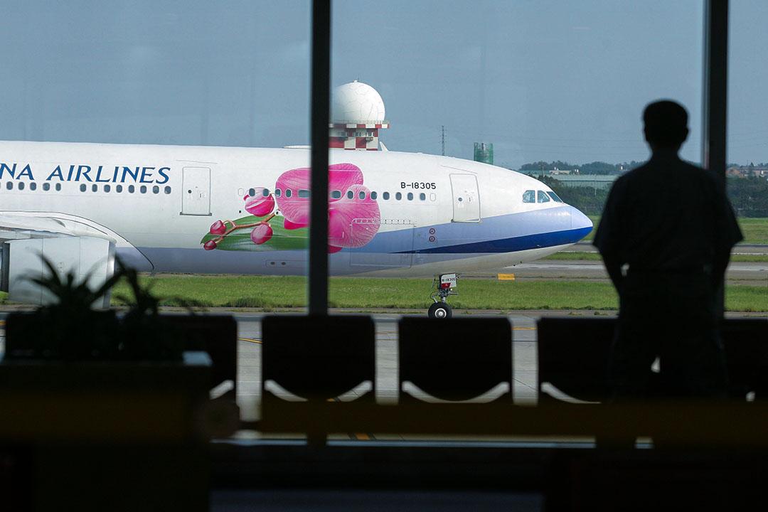 2008年7月4日台灣,中華航空有限公司的噴氣式客機準備於桃園國際機場出發。