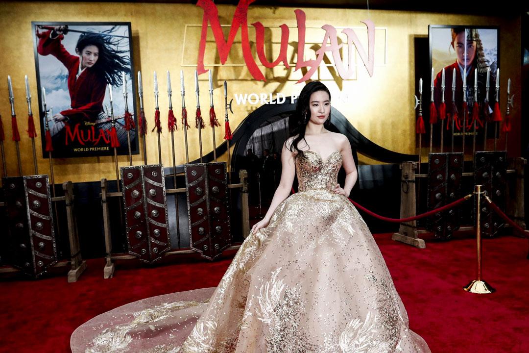 2020年3月9日,電影《花木蘭》的首映禮在美國洛杉磯舉行,女主角劉亦菲到場。 攝:Mario Anzuoni /Reuters/達志影像