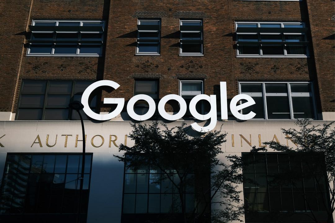 2020年10月20日,Google 公司在紐約曼哈頓的辦公室。 攝:Spencer Platt/Getty Images