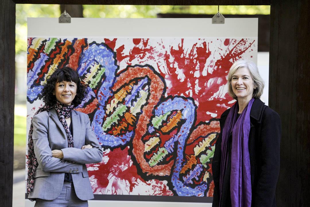 2020年諾貝爾化學獎由兩名研究基因編輯技術的女科學家獲獎,分別為法國的Emmanuelle Charpentier和美國的Jennifer Doudna。 攝:Eloy Alonso/Reuters/達志影像