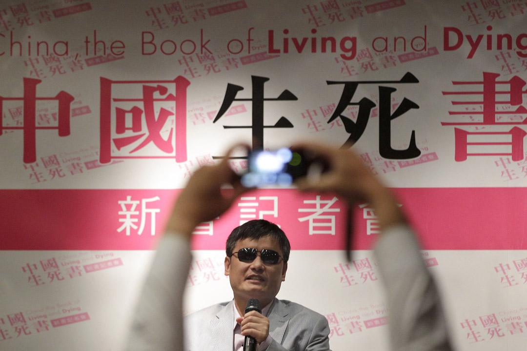 2013年6月27日,維權律師陳光誠在台北出席一個活動。