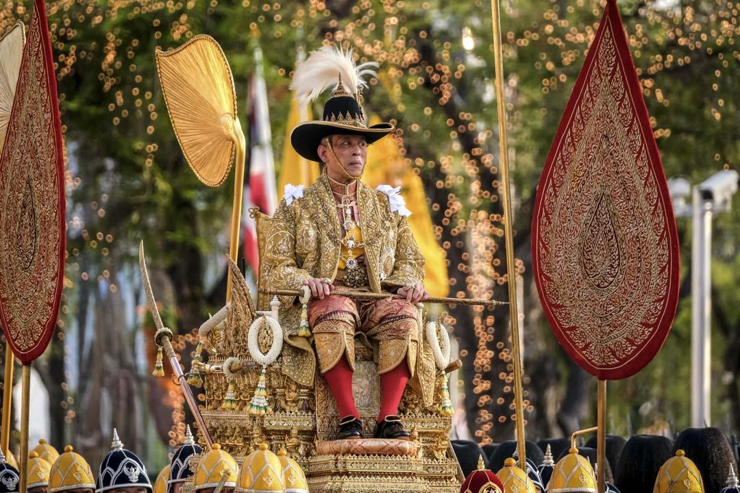 2019年5月5日泰國曼谷,泰國國王瑪哈·瓦吉拉隆功(Maha Vajiralongkorn)也被稱為拉瑪十世(Rama X)在加冕典禮期間。