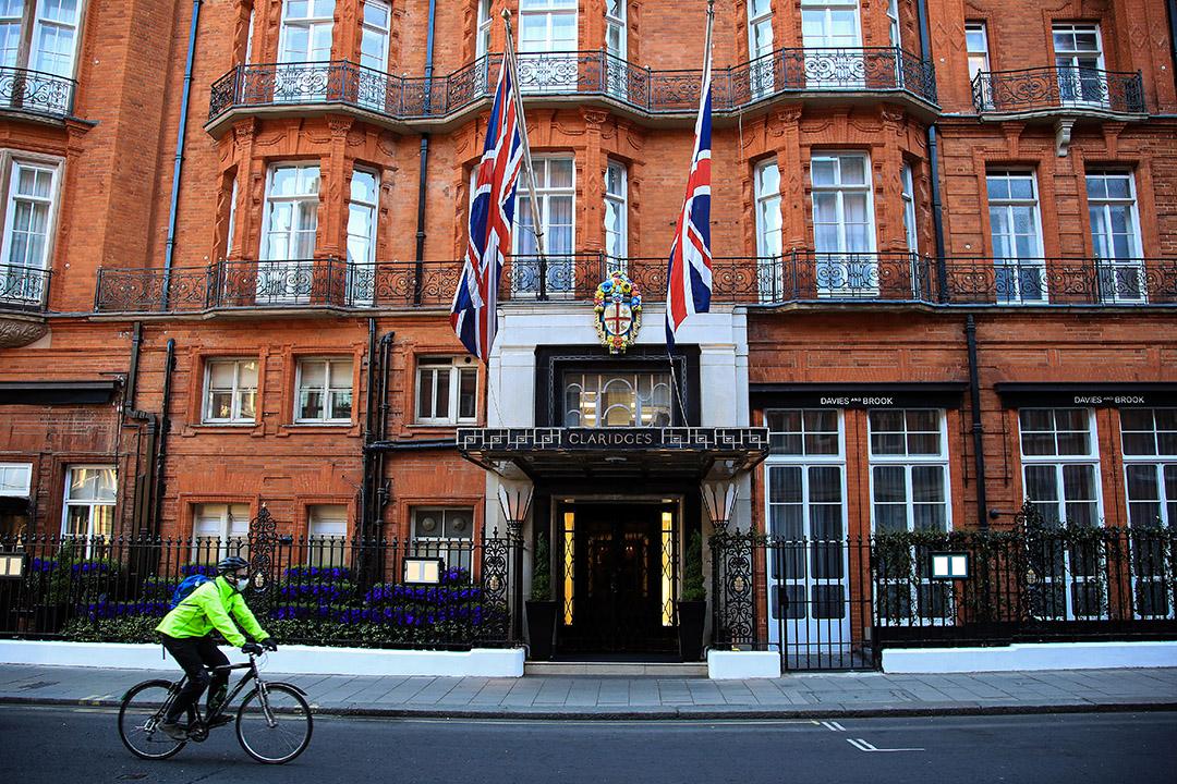 2020年4月23日,英國倫敦的克拉里奇酒店。