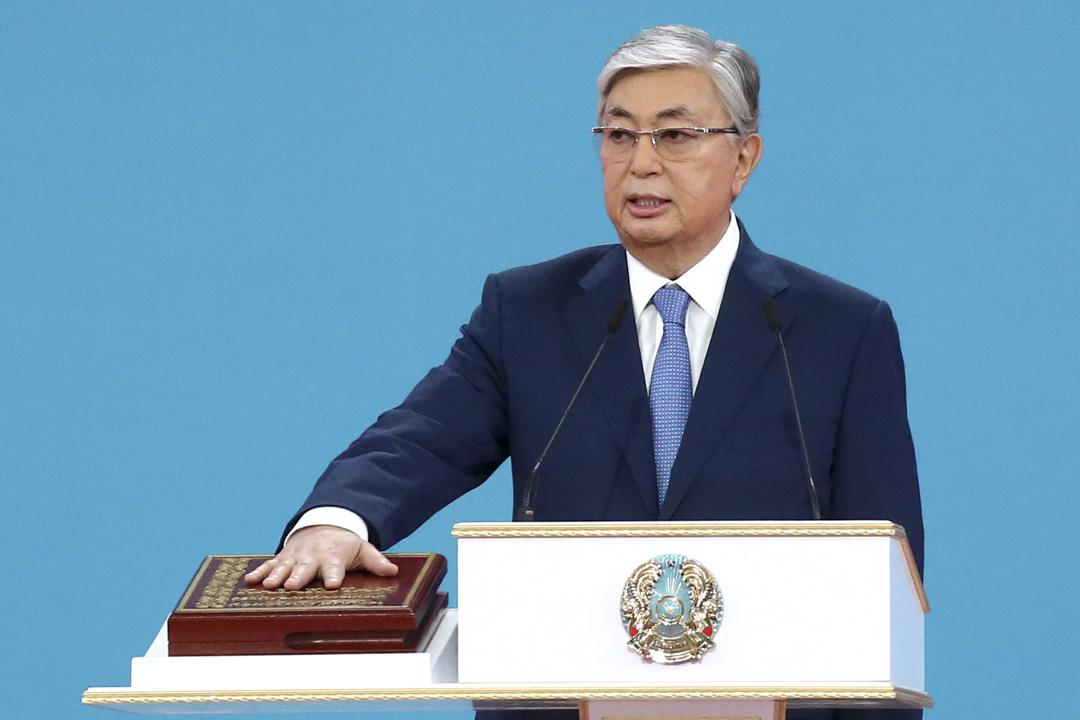 2019年6月12日:Kassym-Jomart Tokayev 宣誓就職成為哈薩克斯坦總統。
