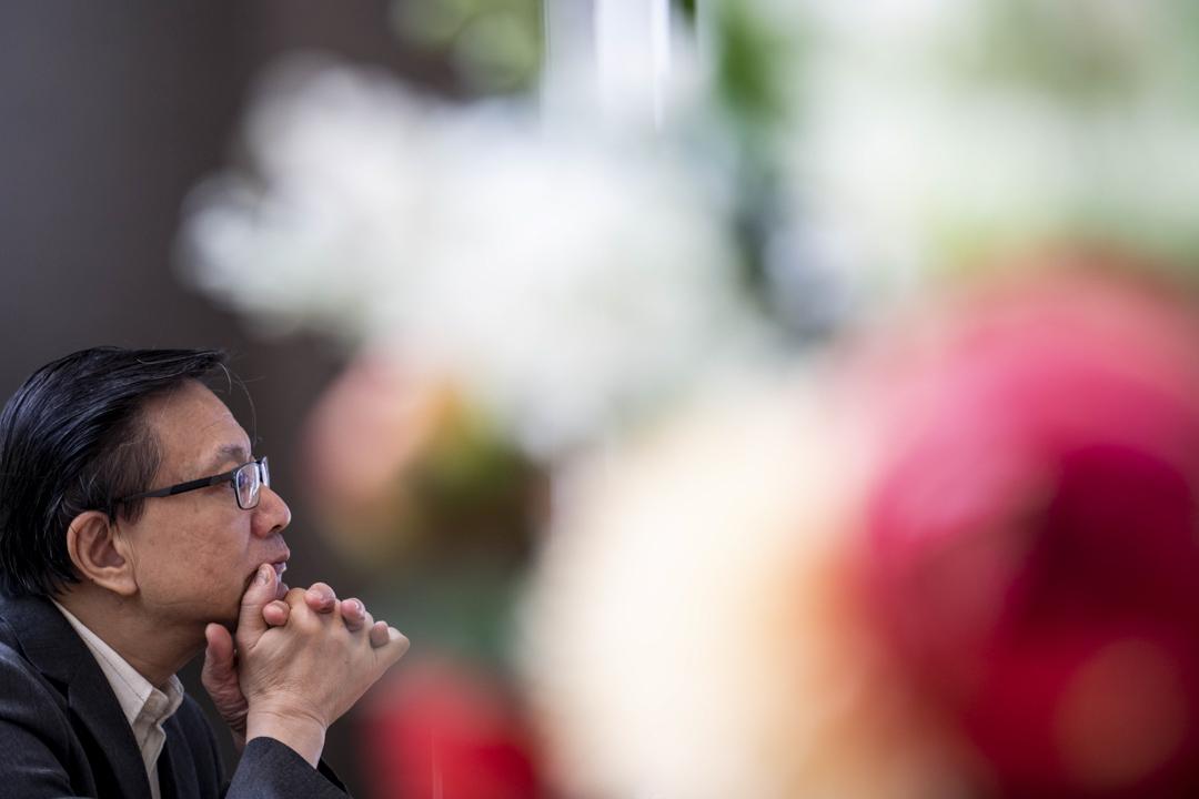 2020年7月16日,張炳良在沙田一間咖啡店接受訪問。