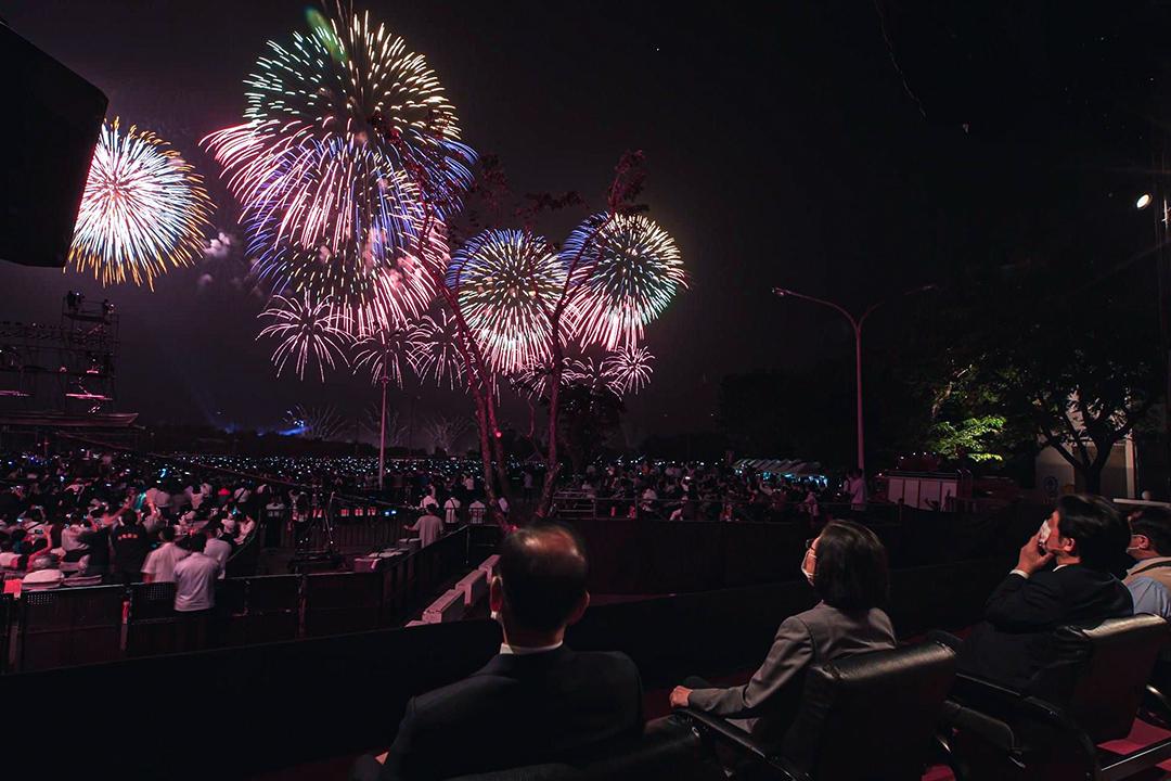 2020年10月10日台南國慶煙火晚會。