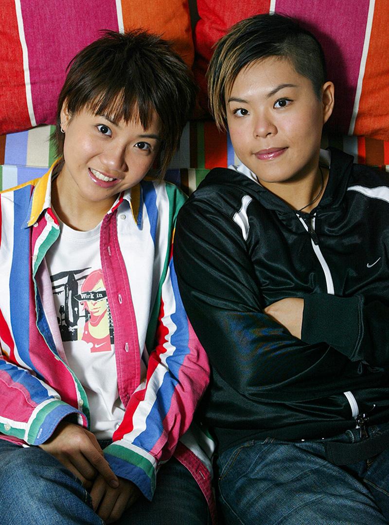 2004年11月20日,at17樂隊林二汶與盧凱彤。