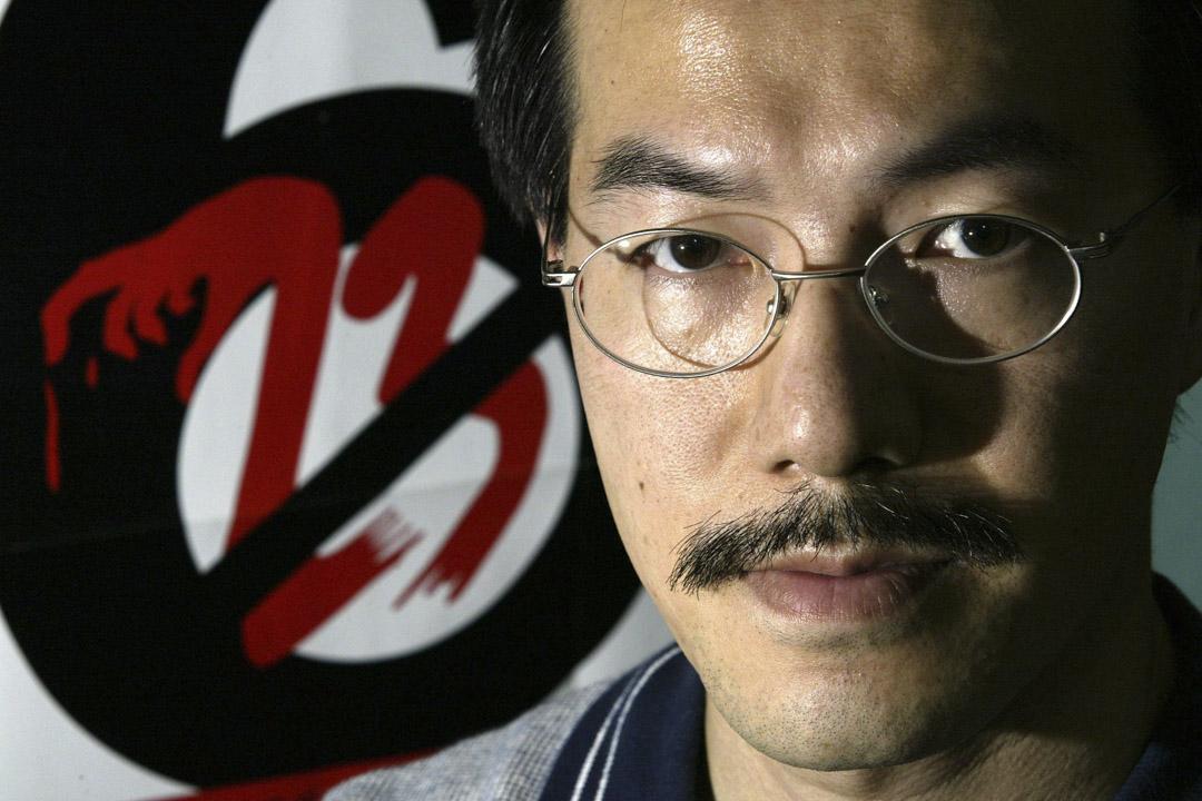 2003年6月23日,香港理工大學講師張超雄於社會工作者總工會的記者會上反對23條立法。