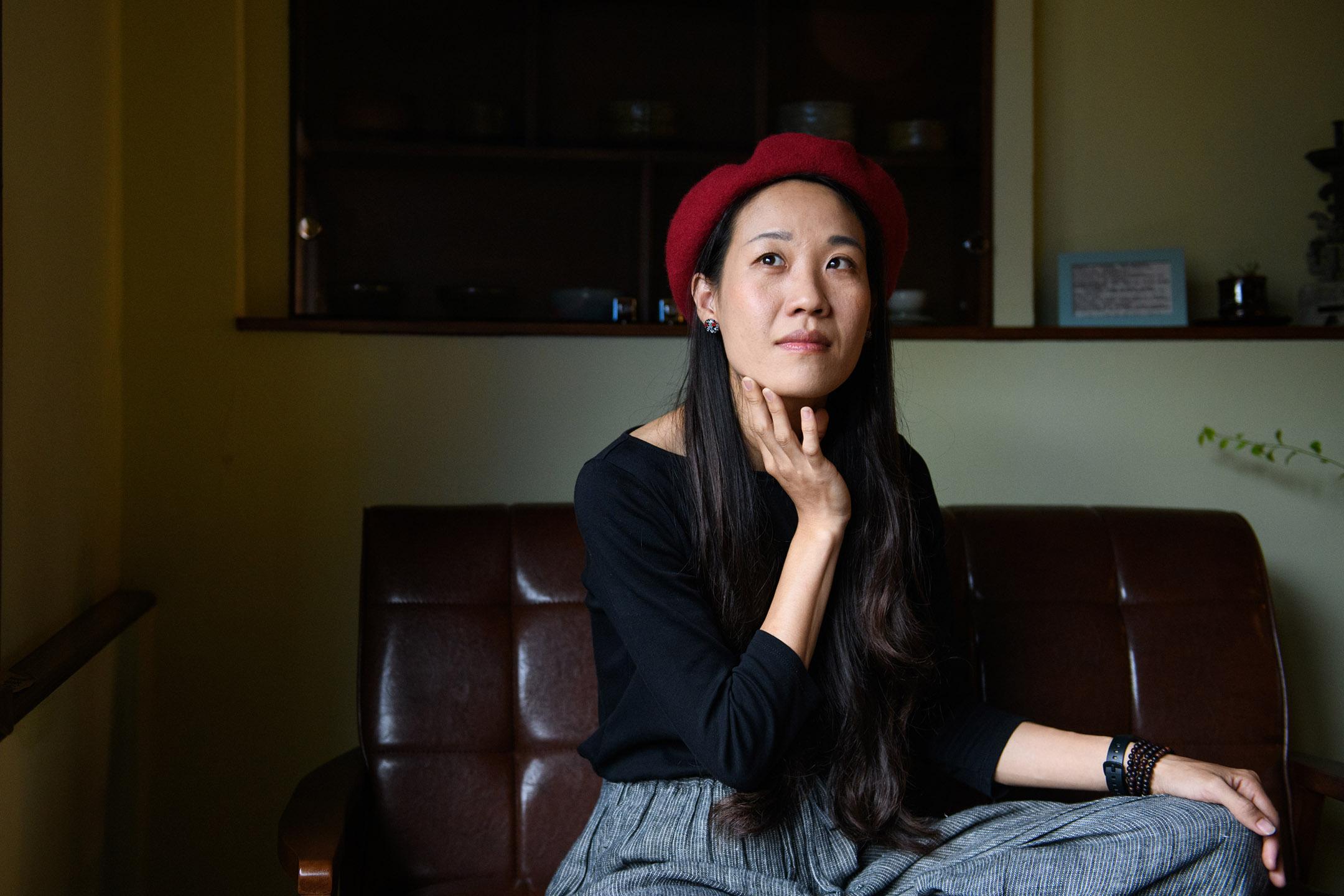 客家歌手米莎。 攝:李昆翰/端傳媒