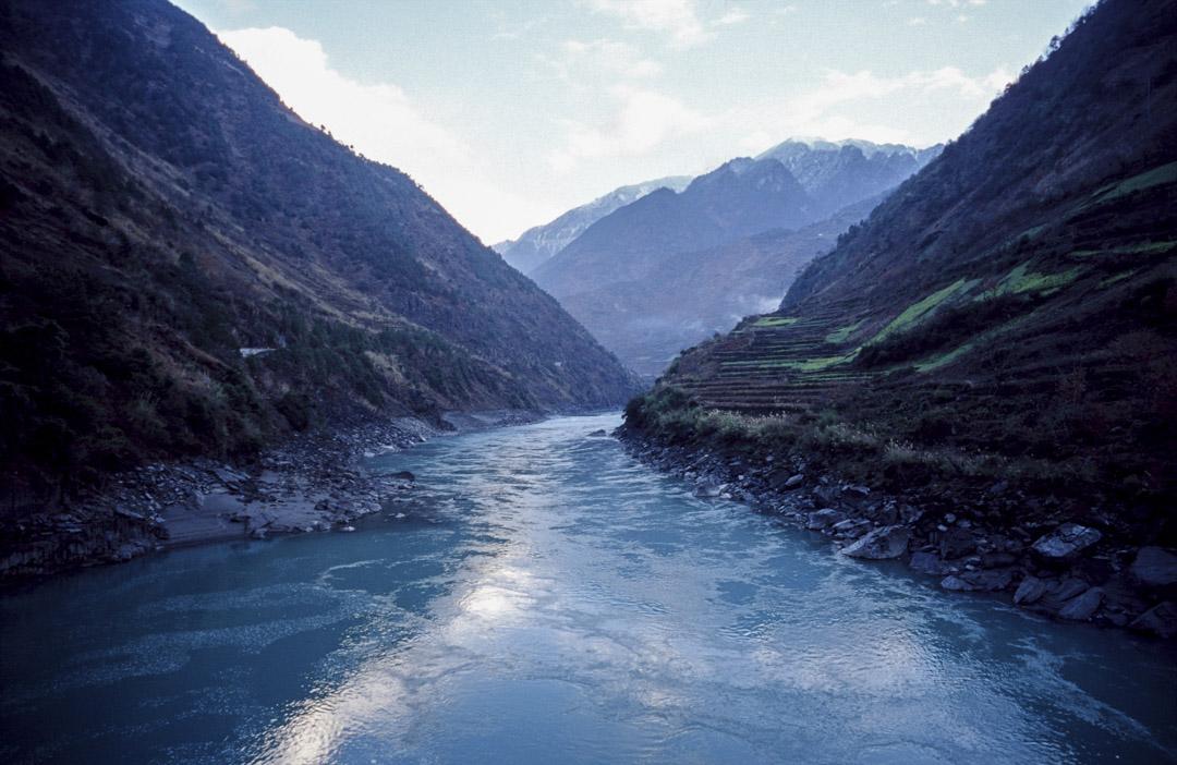 2004年2月1日,中國雲南省貢山縣的風景。