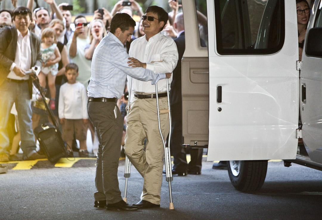 2012年5月19日,中國維權律師陳光誠抵達紐約。