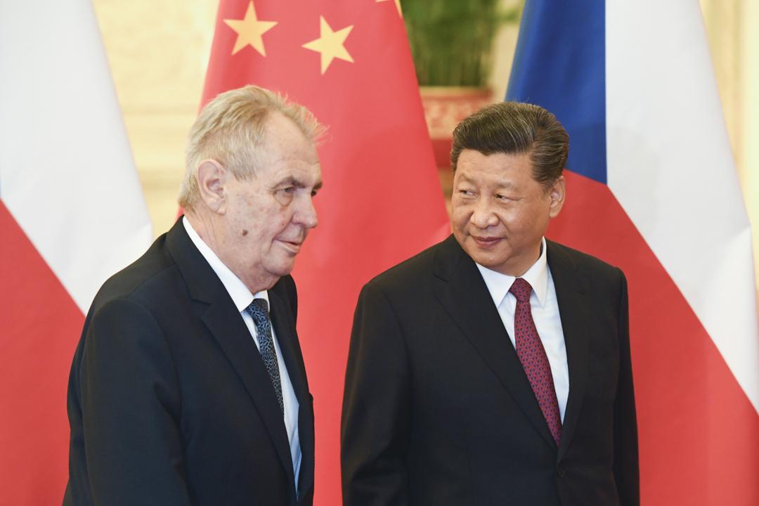 2019年4月28日,中國國家主席習近平在北京人民大會堂會見捷克總統澤曼。