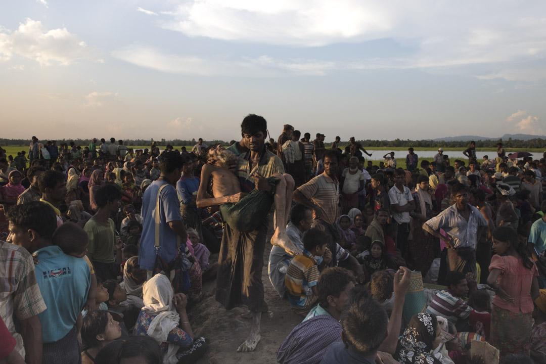 2017年10月16日,從緬甸逃離的羅興亞難民在孟加拉國。