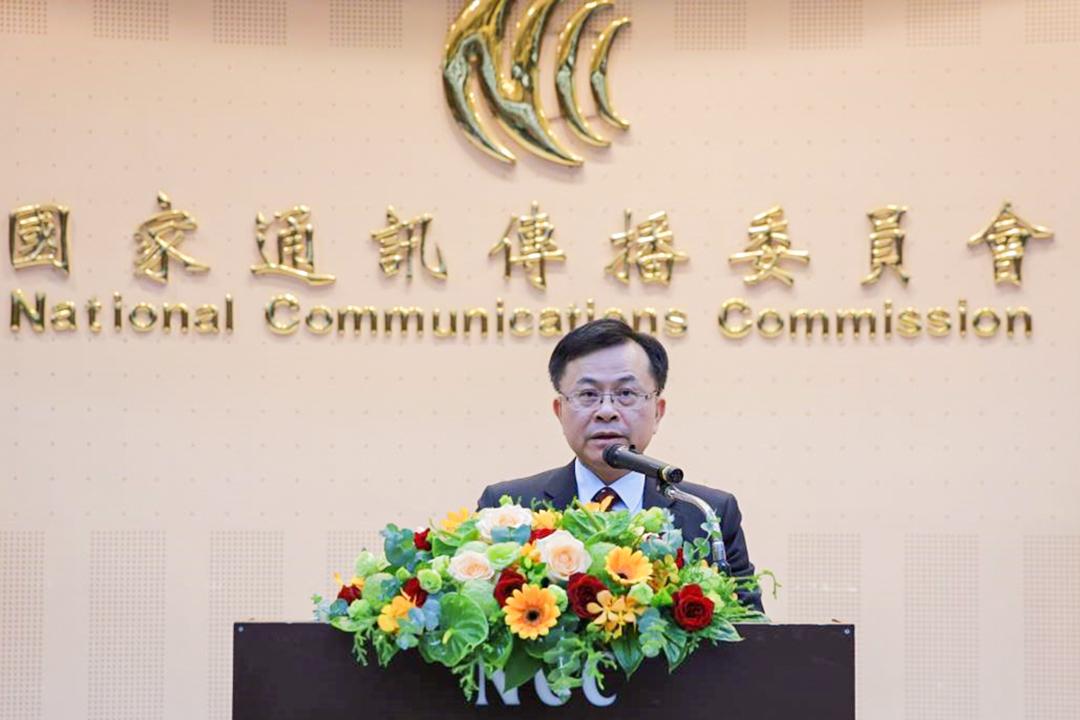 2020年8月4日,NCC主委陳耀祥代表行政院蘇院長於頒獎典禮致詞。
