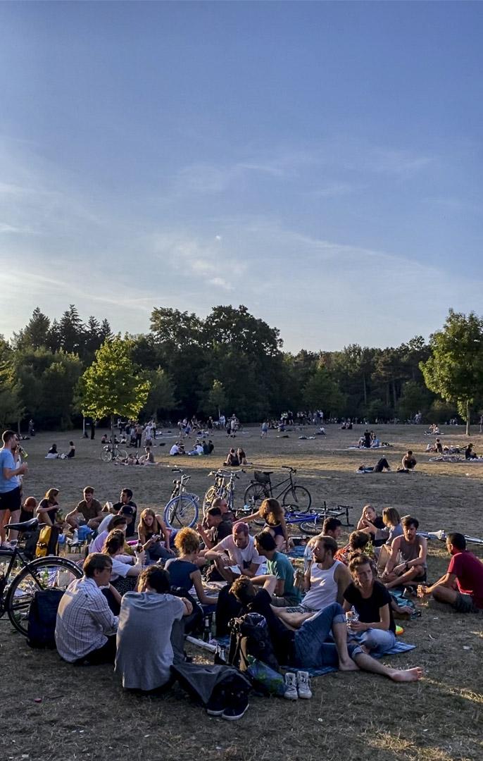 今年夏天Hasenheide公園的熱鬧場景。