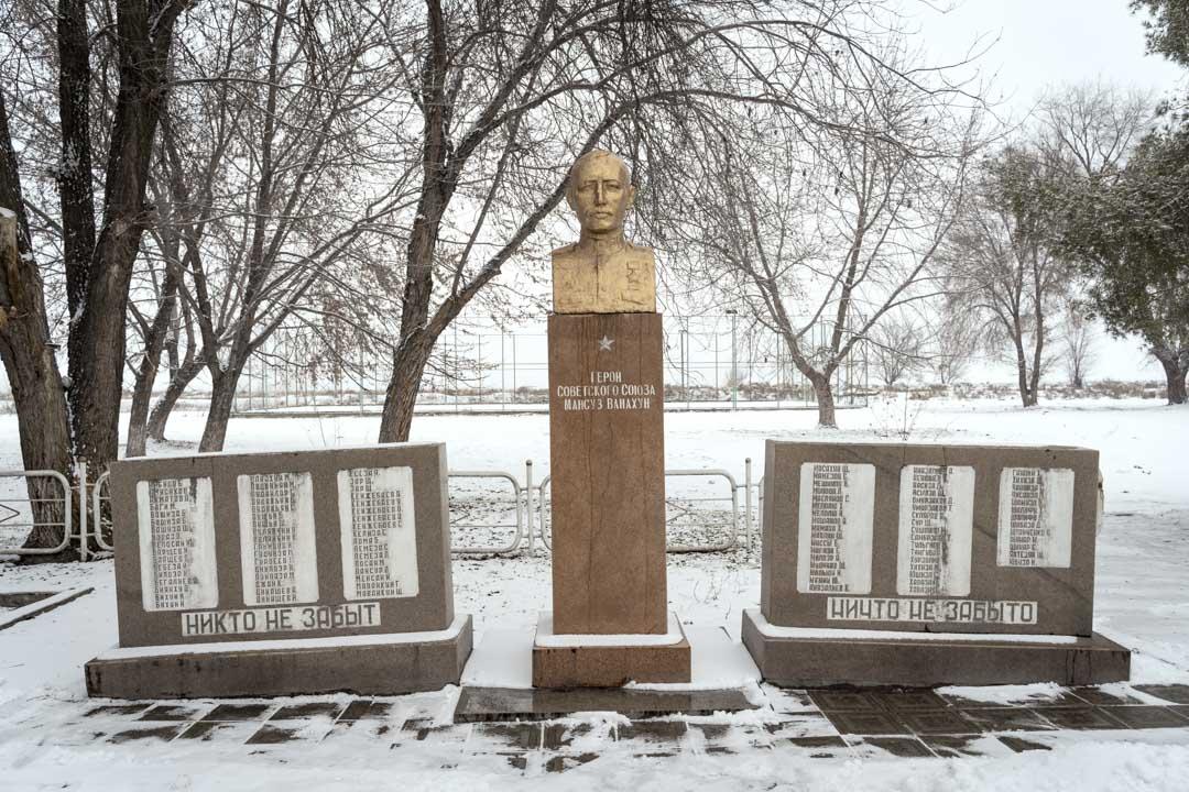 2020年1月13日,吉爾吉斯斯坦,米爾方,東干博物館介紹東干的歷史以及他們參與第二次世界大戰與蘇維埃對德國的戰鬥歷史。