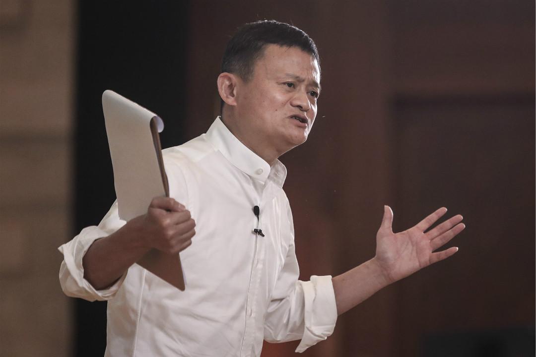 2020年1月7日,海南三亞,阿里巴巴創始人馬雲在「馬雲鄉村教師和校長獎」活動上發表演講。 攝:Wang He/Getty Images