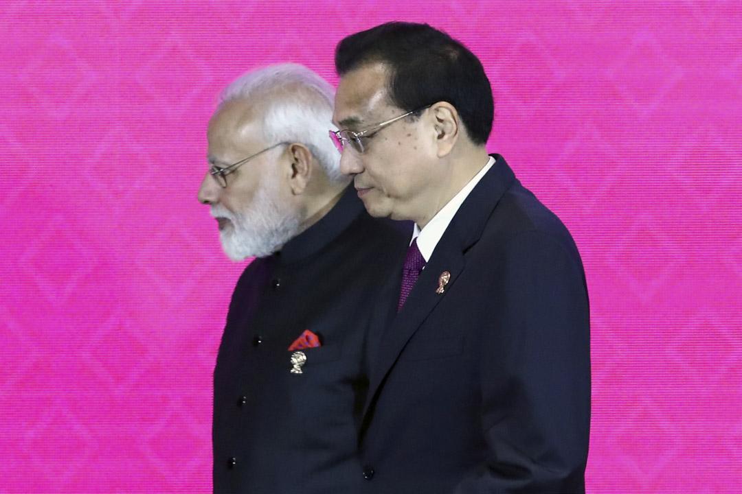 2019年11月4日,印度總理莫迪和中國總理李克強出席泰國曼谷舉行的第三屆區域全面經濟夥伴關係協定(RCEP)峰會。
