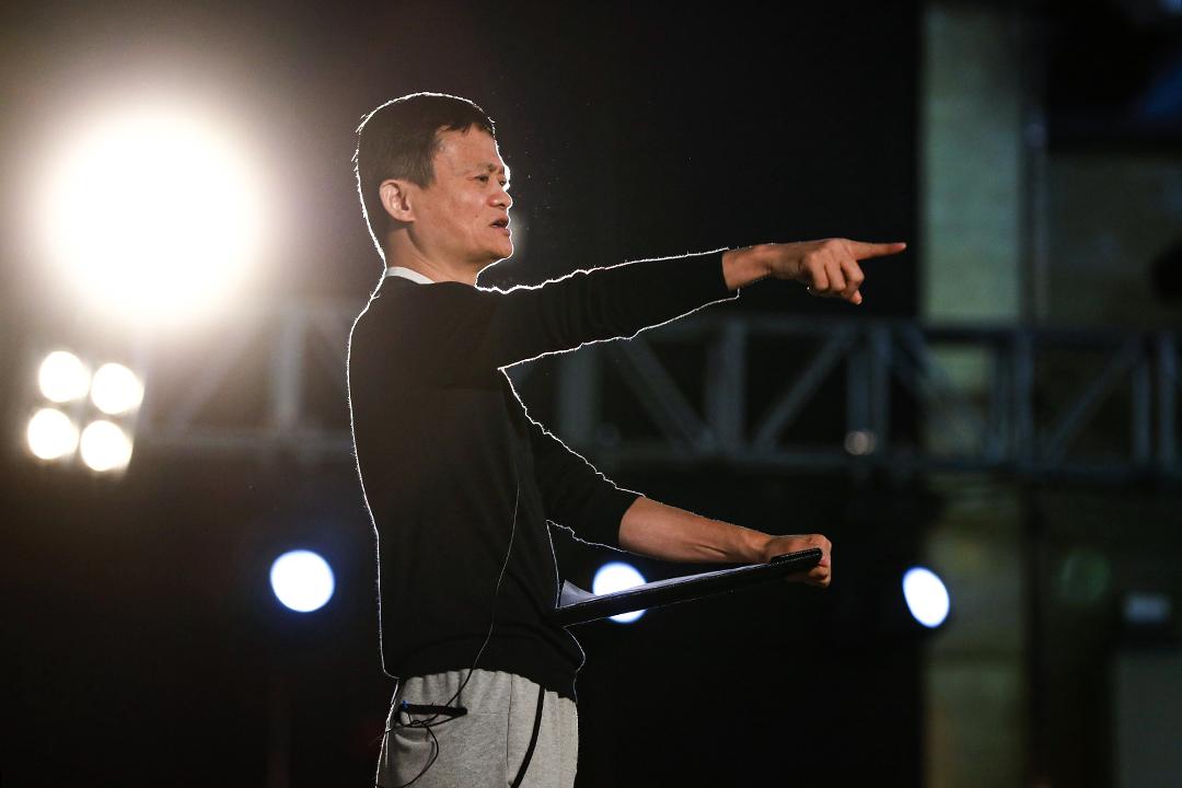 2018年1月22日中國三亞,馬雲在馬雲基金會農村教師獎頒獎典禮上致辭。  攝:Liu Guanguan/Visual China Group via Getty Images