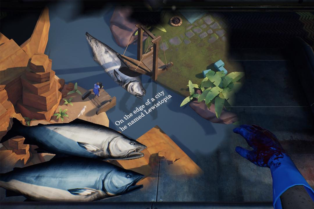 一邊在魚肉加工廠工作,一邊遨遊在腦中世界。