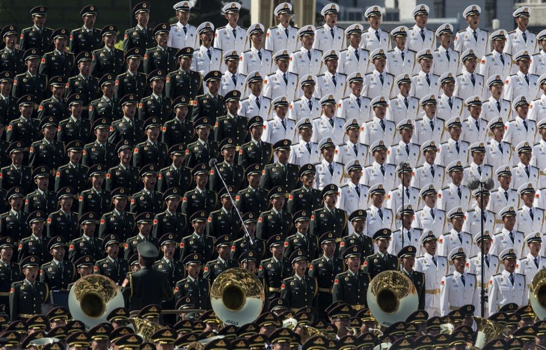 2015年9月3日,解放軍合唱團在閱兵儀式上獻唱。