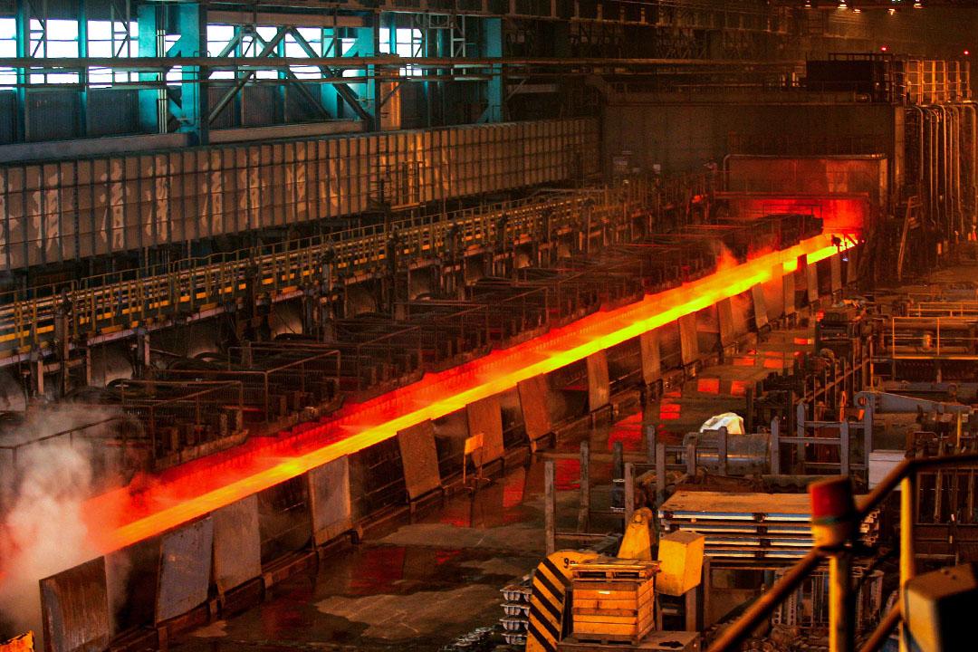2007年11月26日台灣高雄,中國鋼鐵股份有限公司位於高雄的工廠。