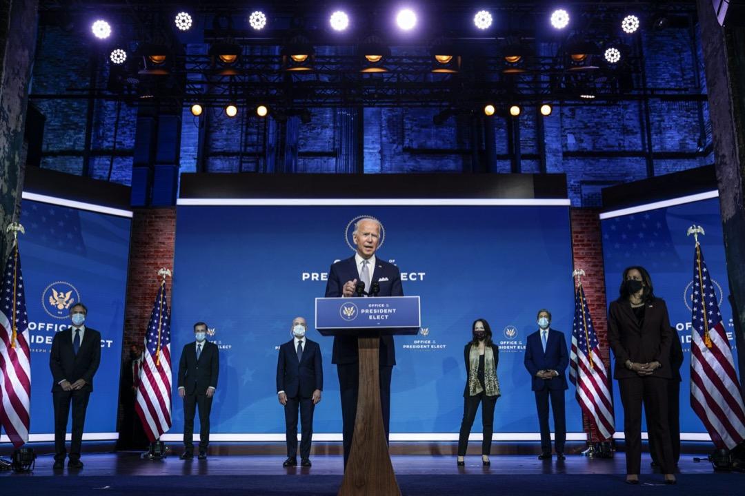 2020年11月24日,候任美國總統拜登公布內閣國防及外交成員名單。 攝:Carolyn Kaster/AP/達志影像