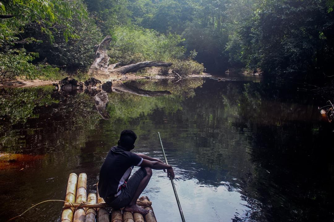 婆丹河(Sungai Pertang)是巴迪族常用的河流。過去,他們時常會在這條河流上洗澡玩樂。