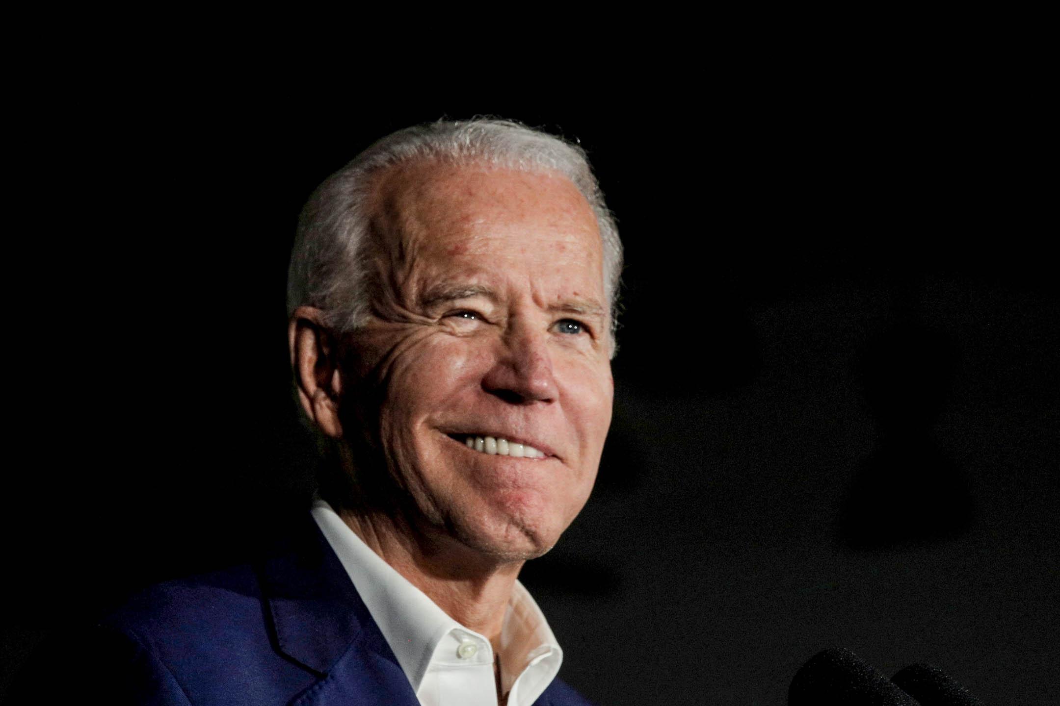 2020年3月8日,民主黨美國總統候選人拜登在一個競選活動中致辭。 攝:Brendan McDermid/Reuters/達志影像