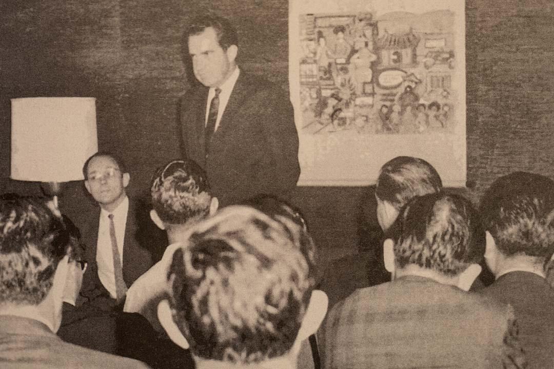 1964年,美國前總統尼克遜,在香港外國記者會位處希爾頓酒店的會址,舉辦新聞發布會。