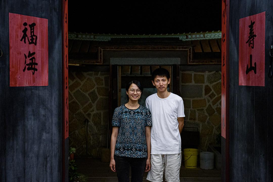 金門歐厝經營民宿的王苓與丈夫。