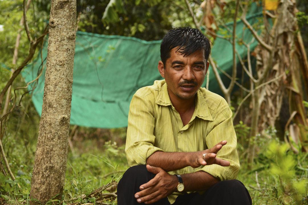 農民Sayed Ghani。