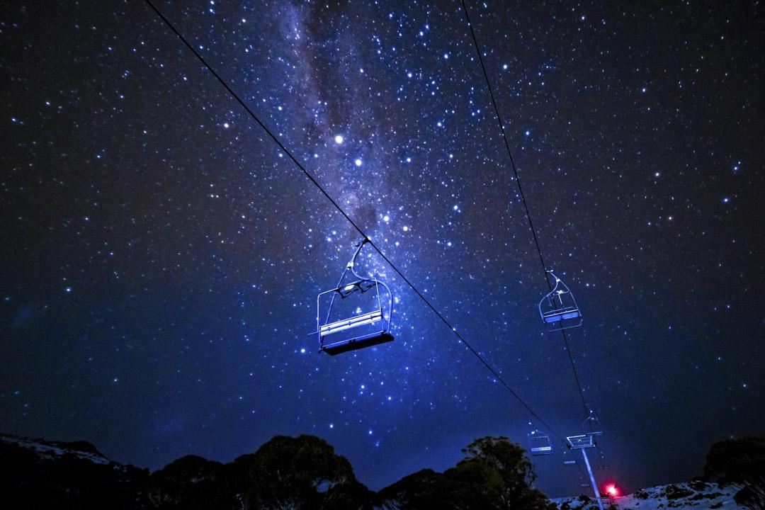 2020年7月10日,澳洲上空的的銀河系。
