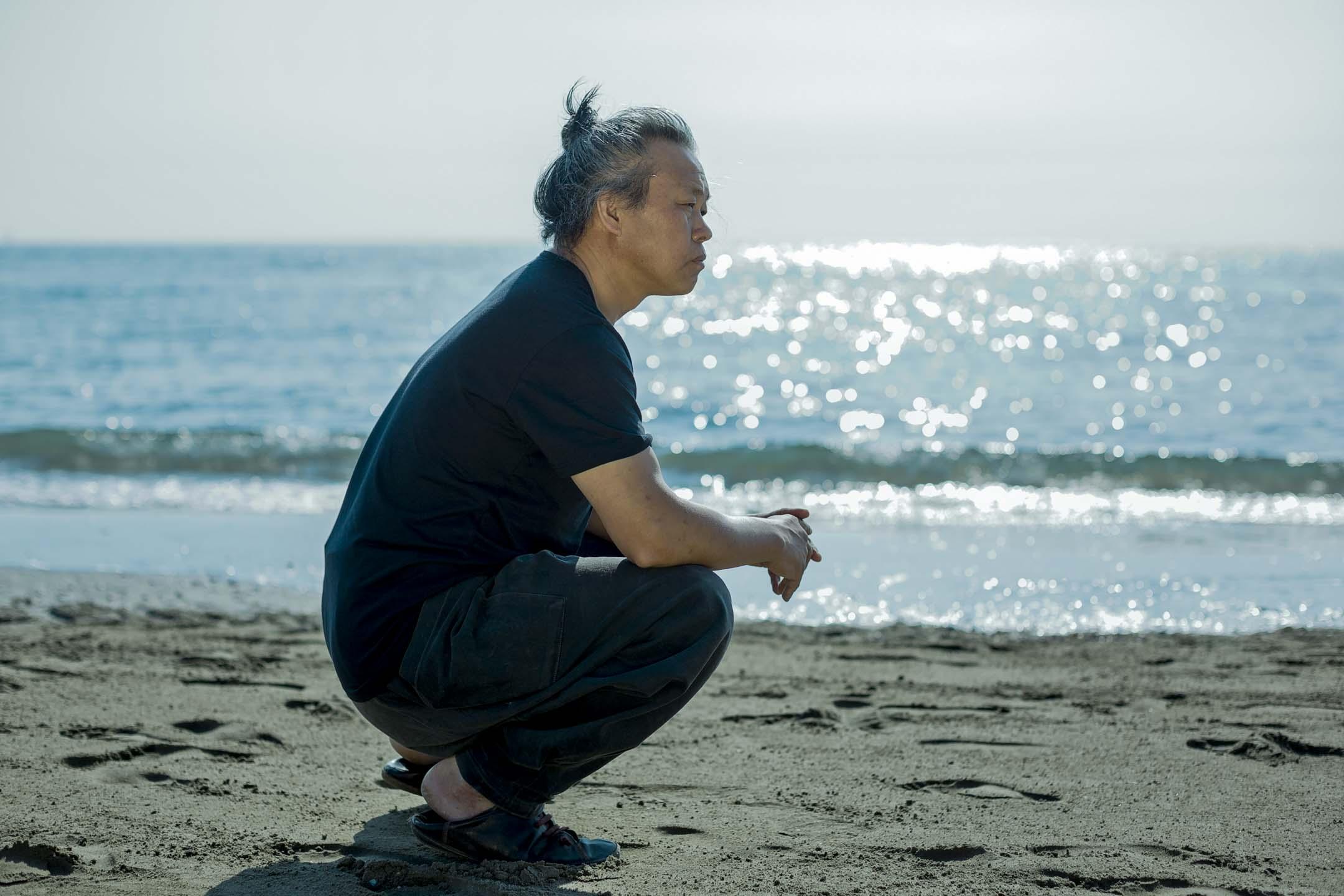 2013年9月4日,南韓導演金基德出席威尼斯電影節。 攝:Domenico Stinellis/AP/達志影像