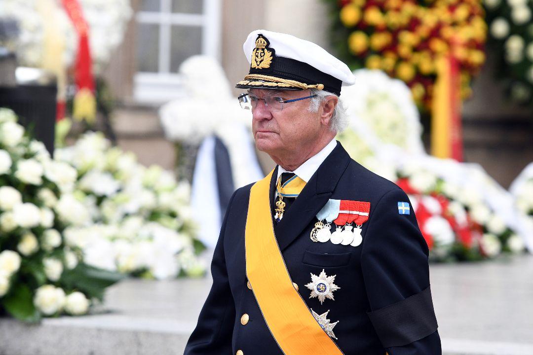 2019年5月4日,盧森堡,瑞典國王卡爾十六世·古斯塔夫(Carl XVI Gustaf)出席前盧森堡大公Jean的葬禮。 攝:Harald Tittel/Getty Images
