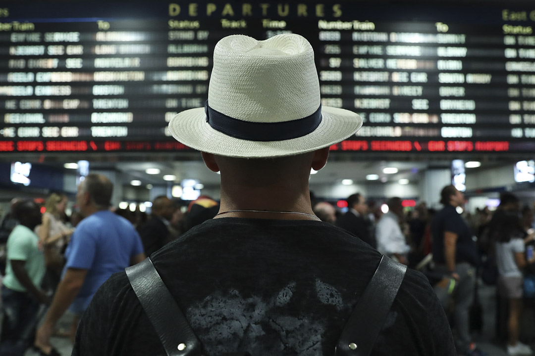 2016年9月2日,紐約車站的候車旅客。