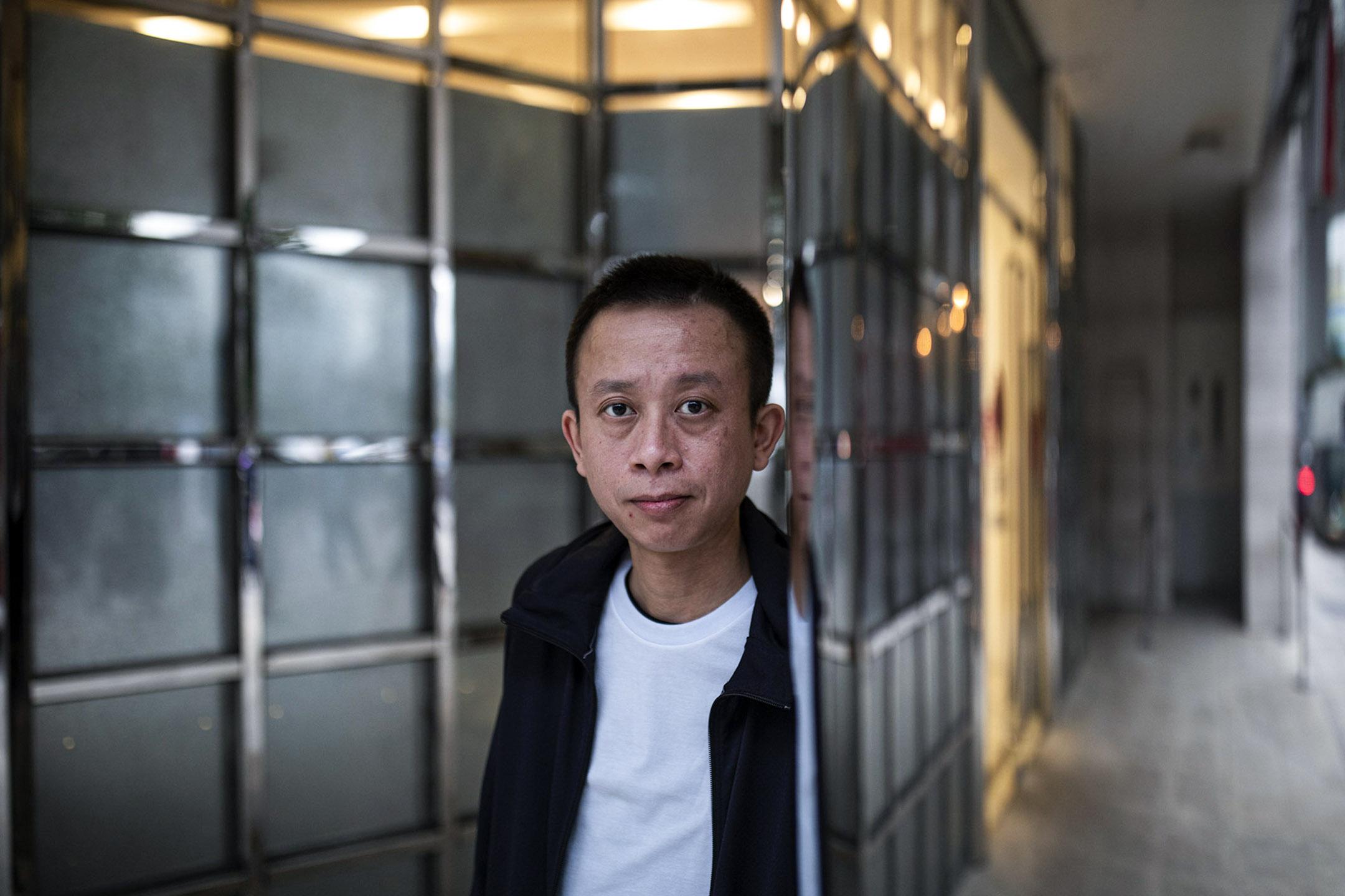 前有線新聞記者冼程峰。 攝:陳焯煇/端傳媒