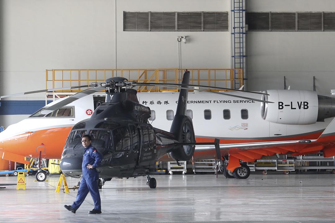 2020年12月21日,美國商務部公佈「軍事終端用戶清單」,涵蓋來自中國、俄羅斯及香港的合共103間企業及機關,包括香港政府飛行服務隊。 攝:Edward Wong / SCMP via Getty Images