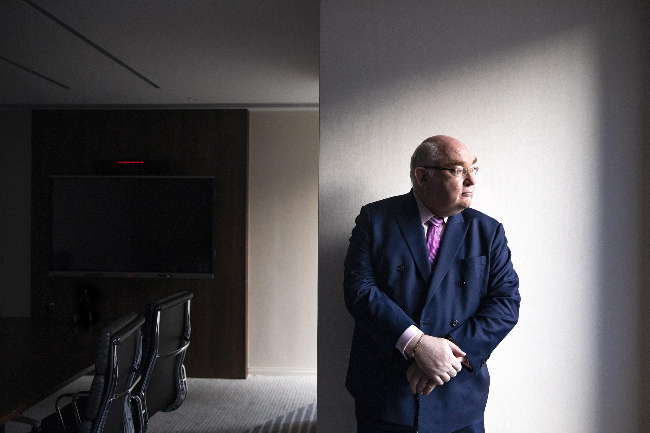 現任香港大律師公會主席、資深大律師戴啟思。 攝:陳焯煇/端傳媒