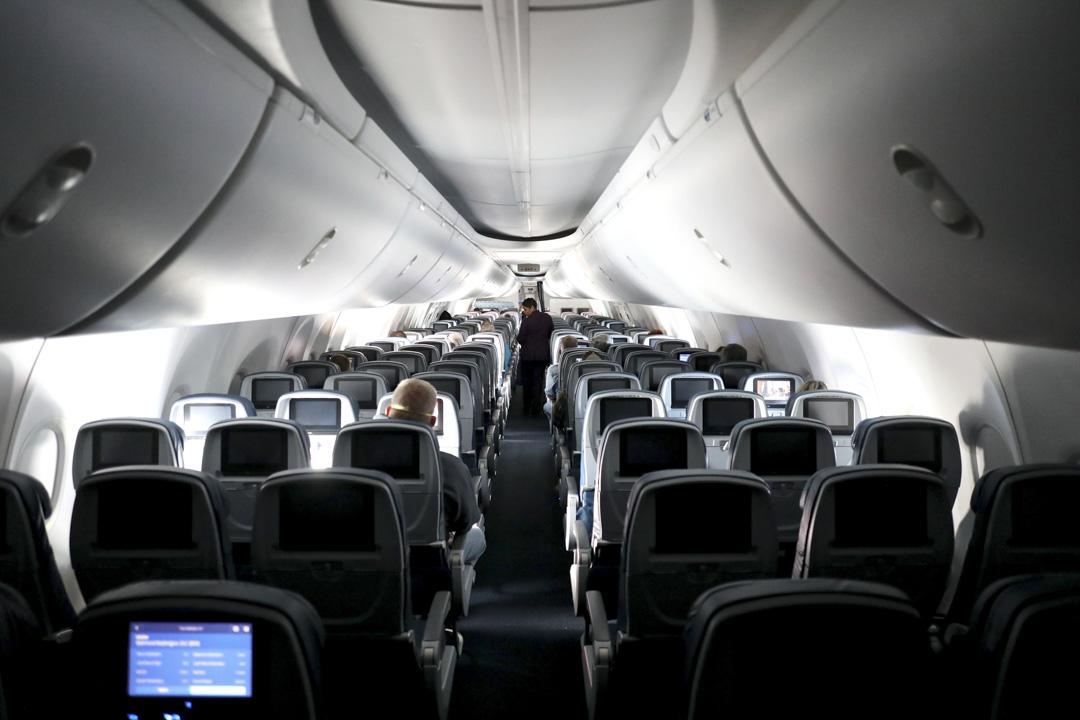 2020年4月20日,亞特蘭大國際機場出發的航機上。