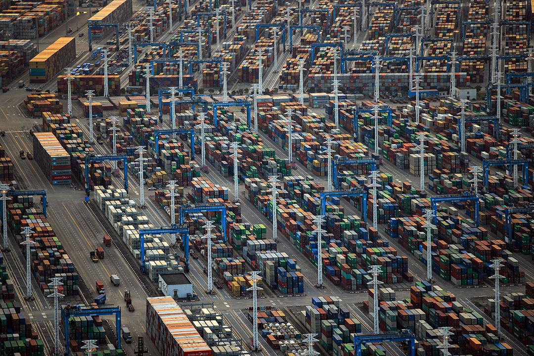 2020年4月7日,中國浙江省寧波舟山港。