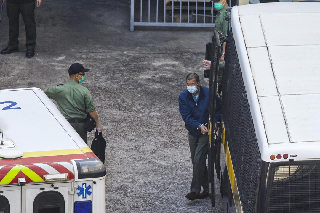 壹傳媒集團創辦人黎智英遭加控一項《港區國安法》下的「勾結外國或者境外勢力危害國家安全」罪名。 攝:林振東 / 端傳媒