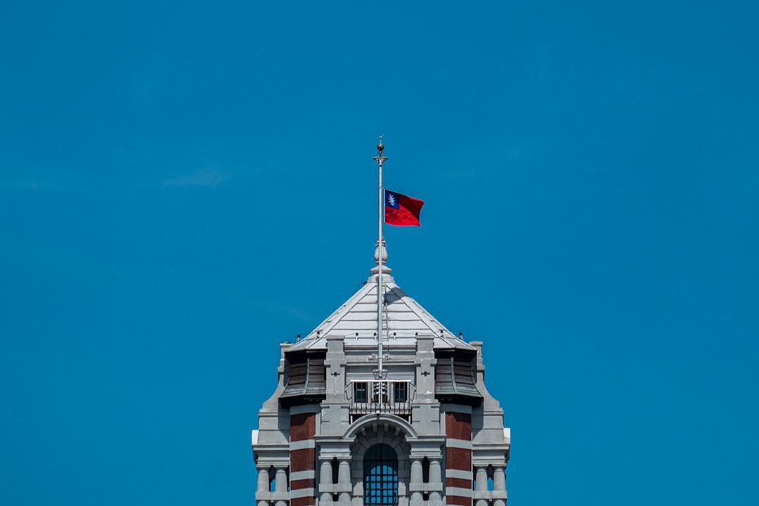 2020年8月1日台北,總統府下半旗,向已故的台灣前總統李登輝致敬。