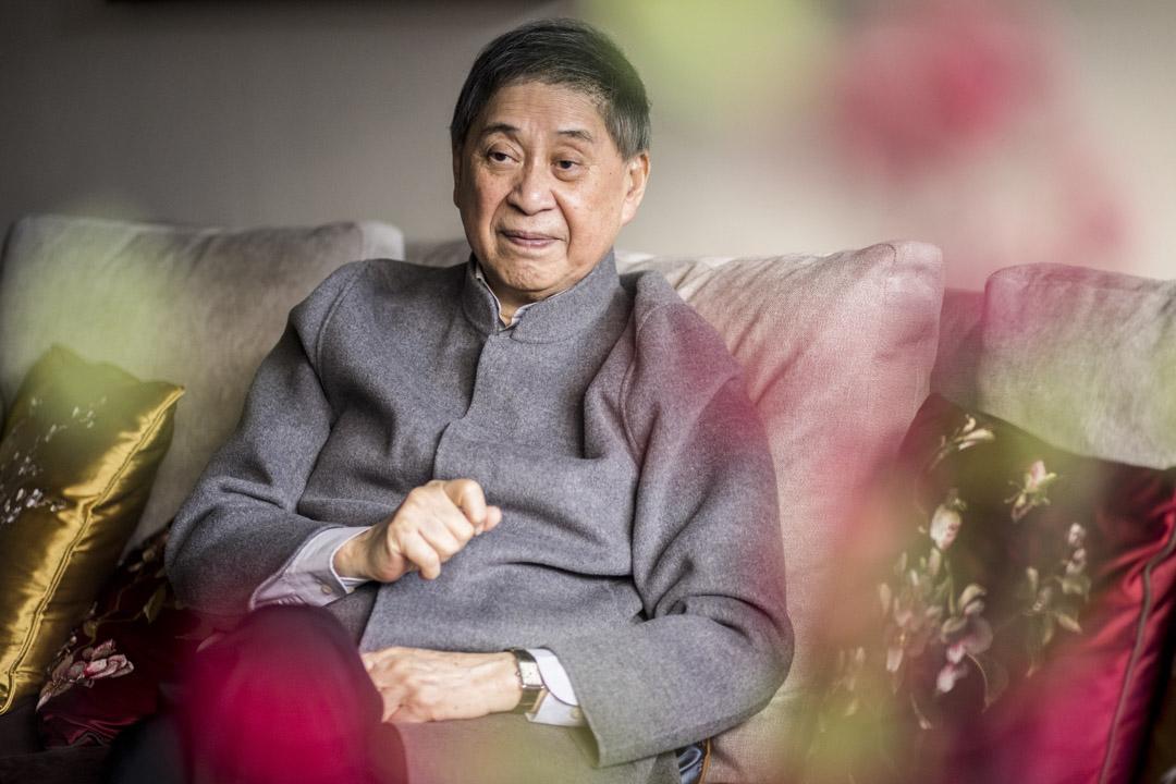 白先勇在台北家中接受訪問。