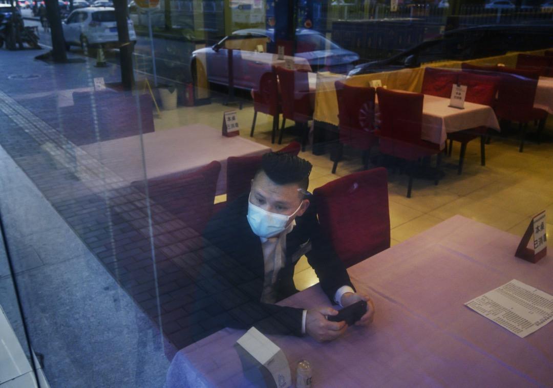 北京一家餐廳的員工。