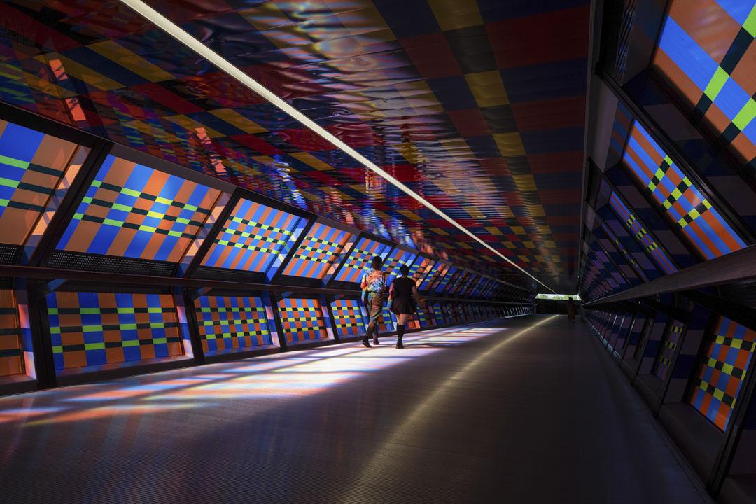 2020年9月14日,英國倫敦購物區的一條隧道。